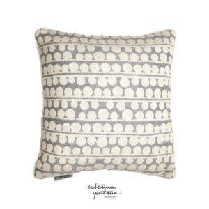 Cuscino in tessuto Lino Grigio con Profilo